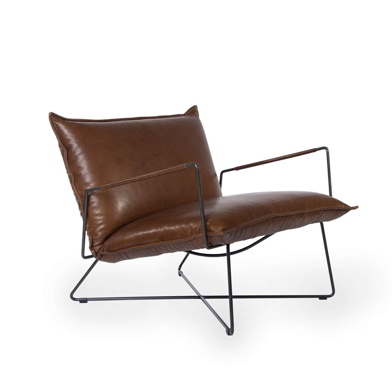 Earl Armchair With Arm Luxor Fango Oblique (1)