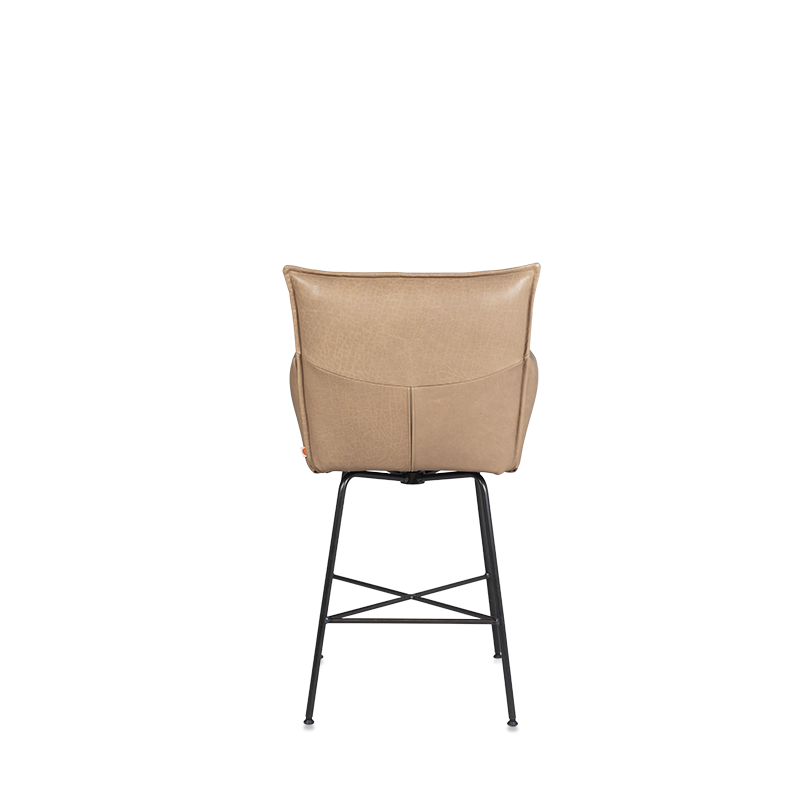 Sanne Swivel Barchair With Arm, Frame Old Glory, Bonanza Beige Achter Kopiëren