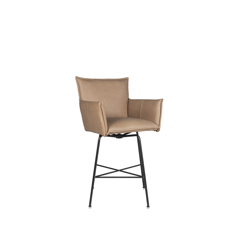 Sanne Swivel Barchair With Arm, Frame Old Glory, Bonanza Beige Pers Kopiëren