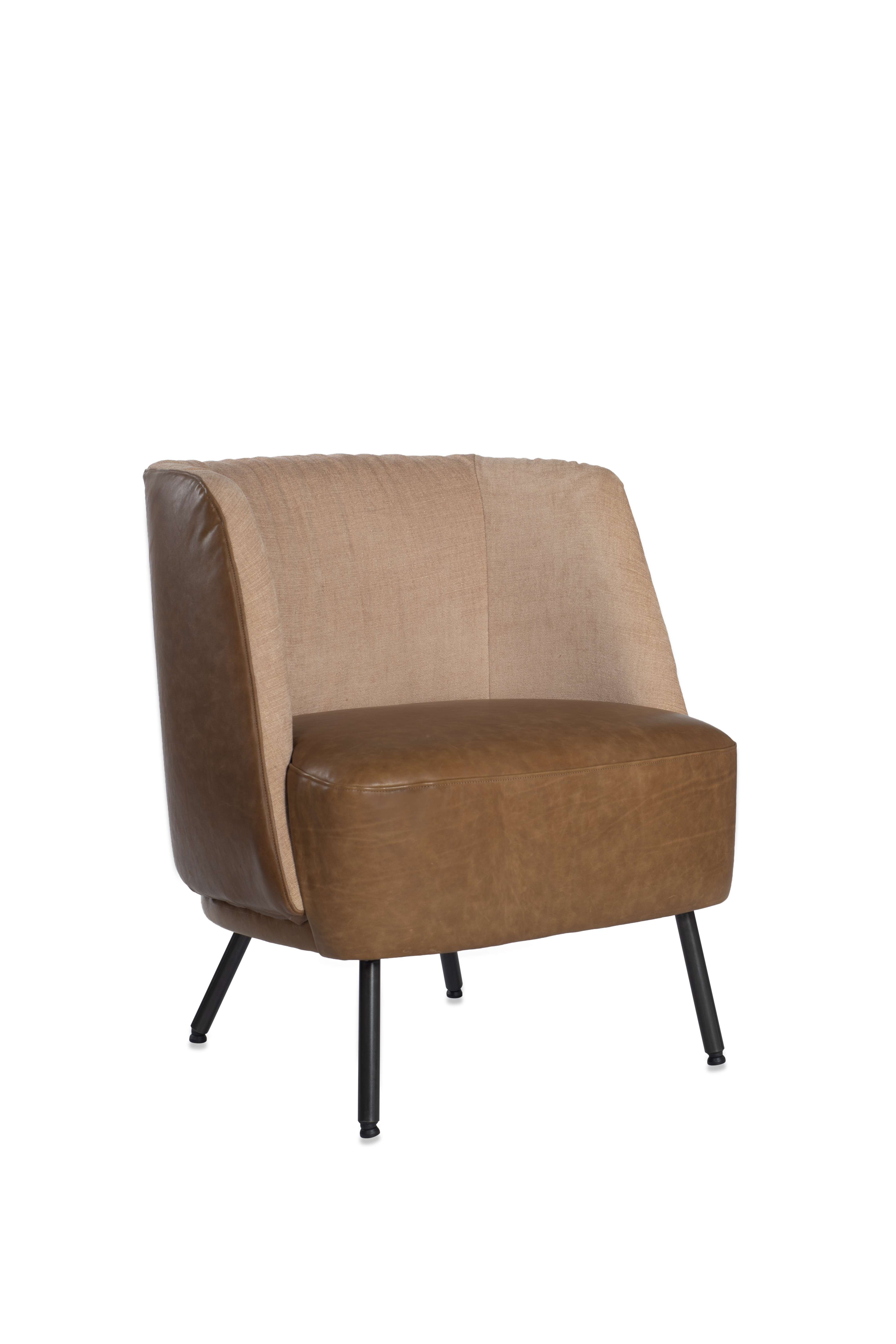 Tray Armchair Luxor Fango Light Stockholm Nude Oblique