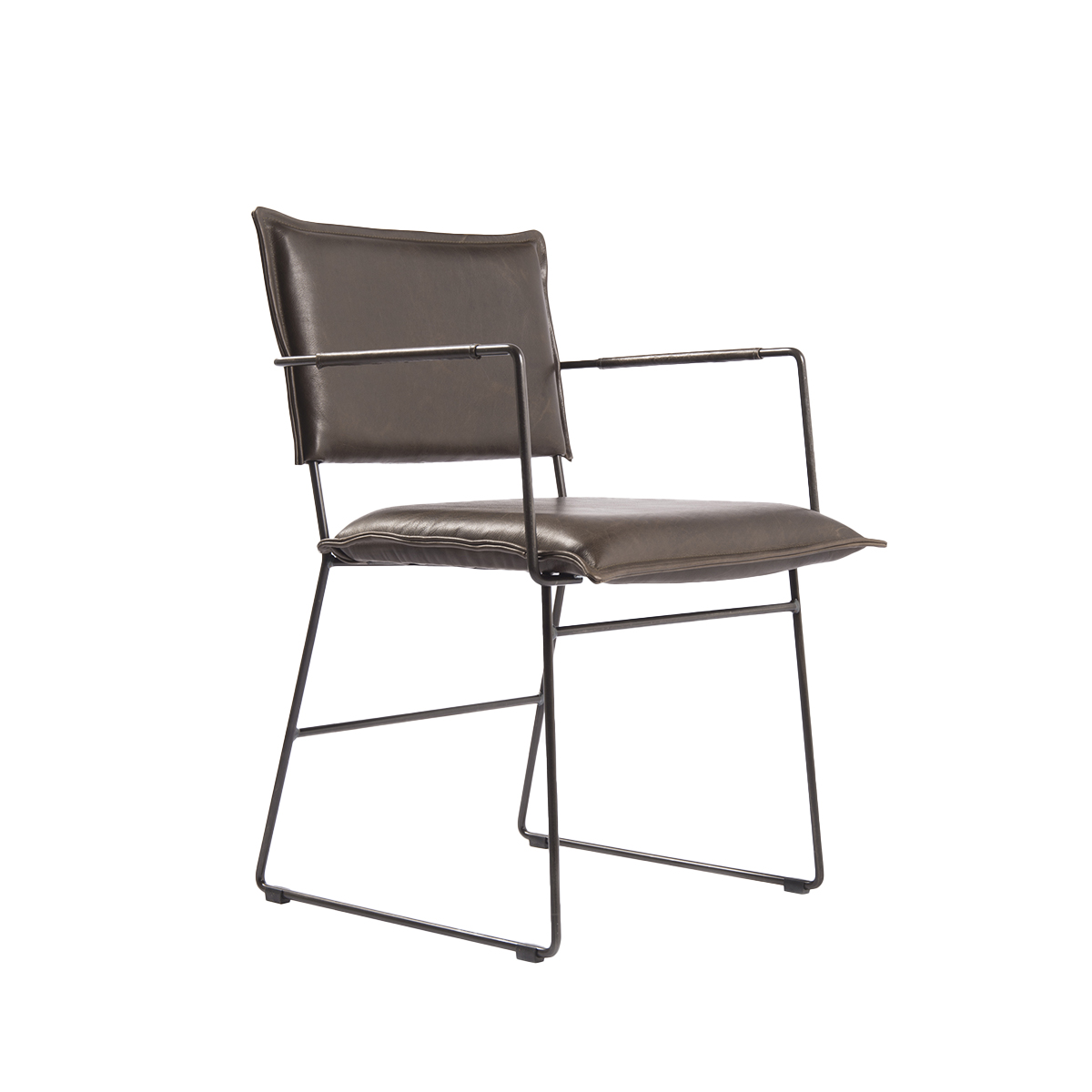 Norman Diningchair Arm Luxor Grey Oblique