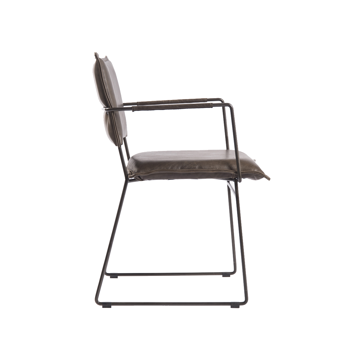Norman Diningchair Arm Luxor Grey Side